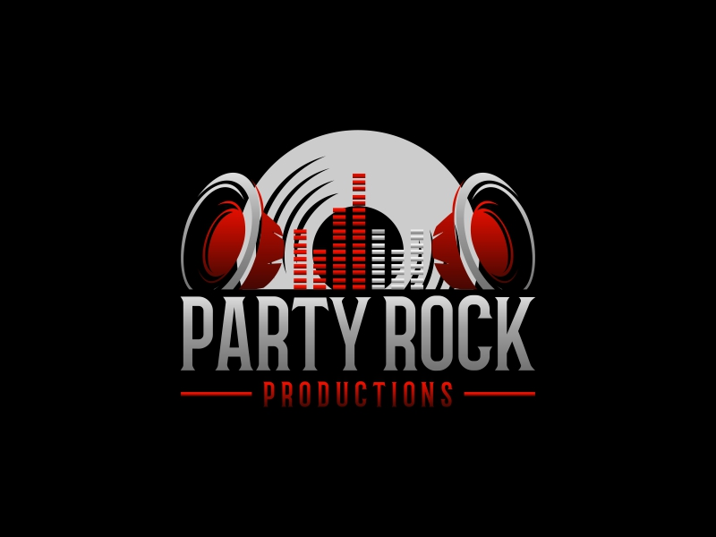 Party Rock Productions logo design by luckyprasetyo