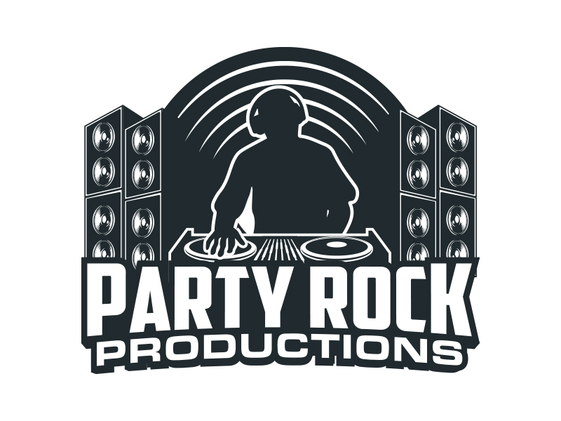 Party Rock Productions logo design by MarkindDesign™