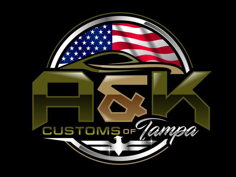A&K Customs of Tampa logo design by DreamLogoDesign