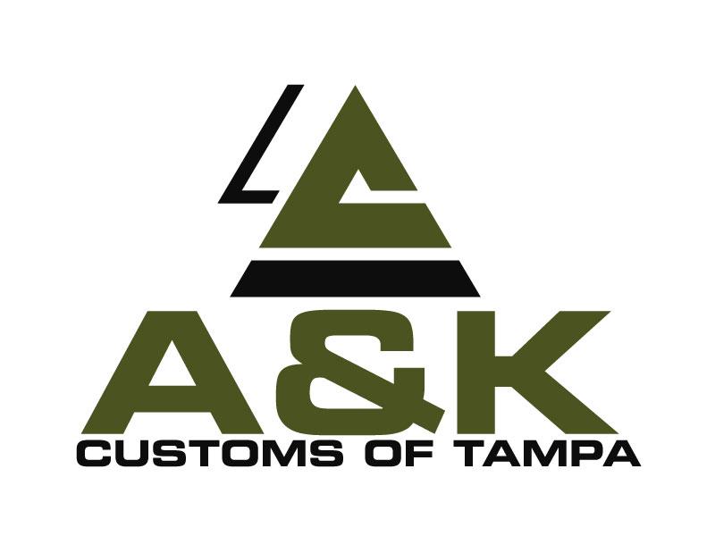 A&K Customs of Tampa logo design by ElonStark