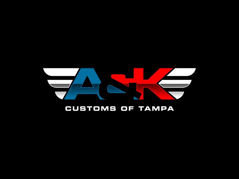 A&K Customs of Tampa logo design by torresace