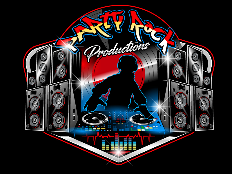 Party Rock Productions logo design by uttam