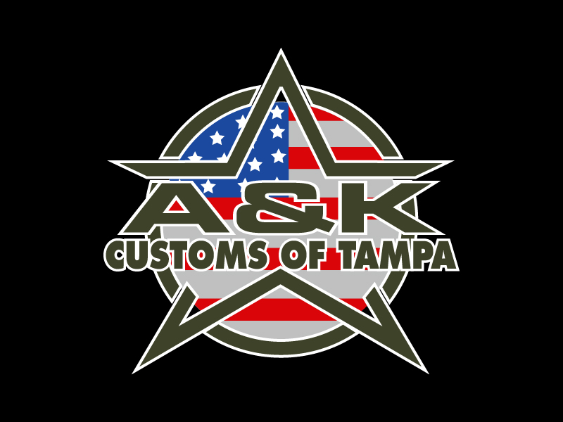 A&K Customs of Tampa logo design by pilKB