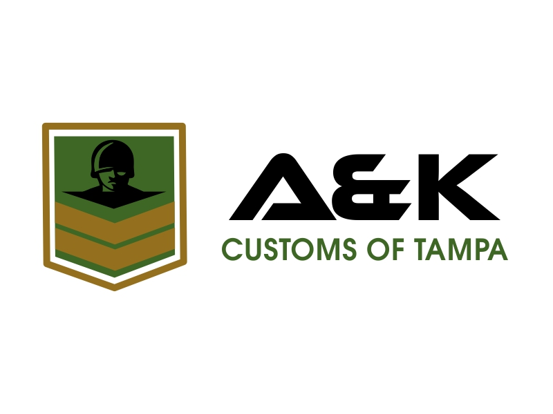 A&K Customs of Tampa logo design by JessicaLopes