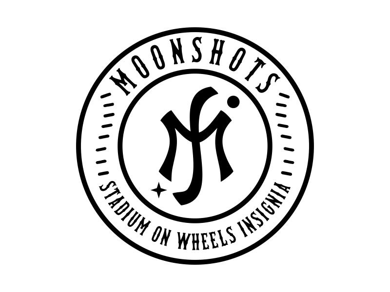 Moonshots Stadium On Wheels Insignia logo design by cikiyunn