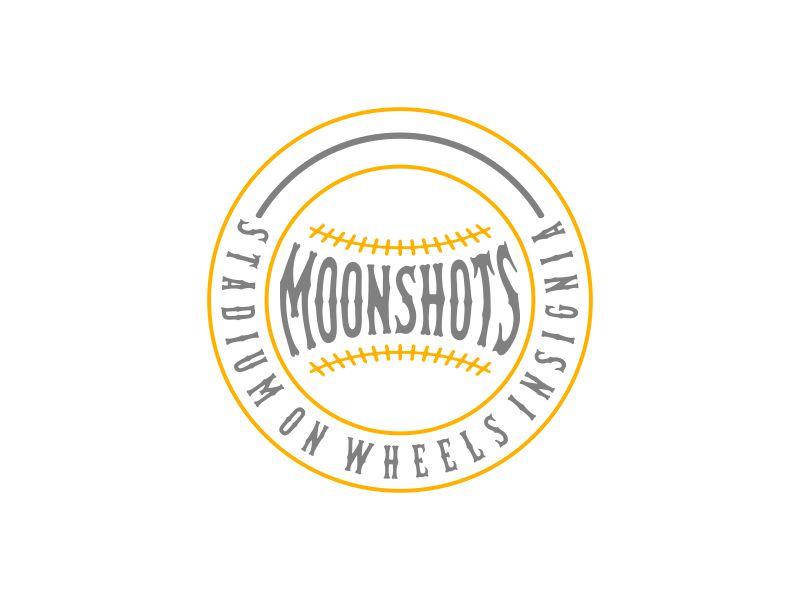 Moonshots Stadium On Wheels Insignia logo design by glasslogo