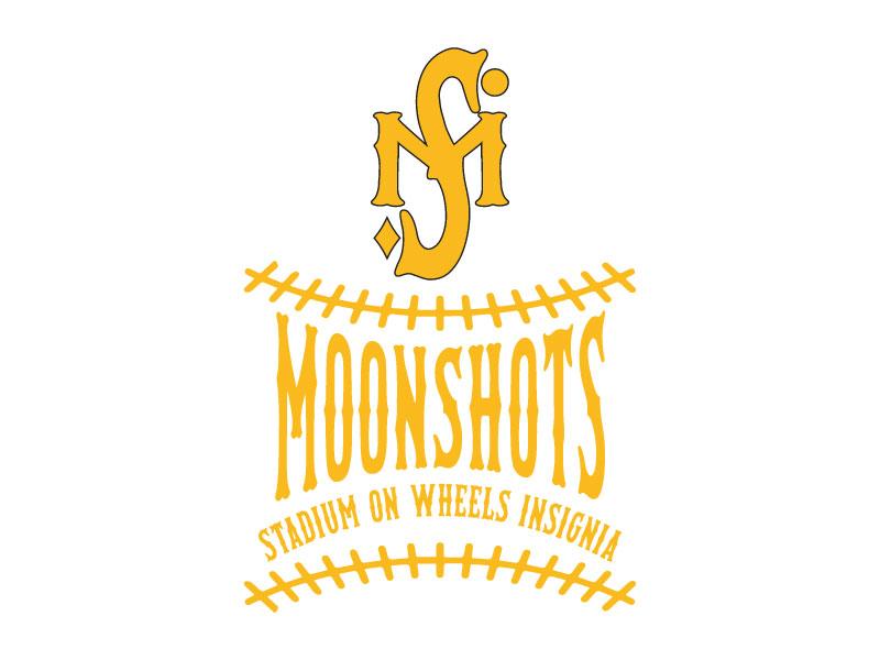Moonshots Stadium On Wheels Insignia logo design by aryamaity