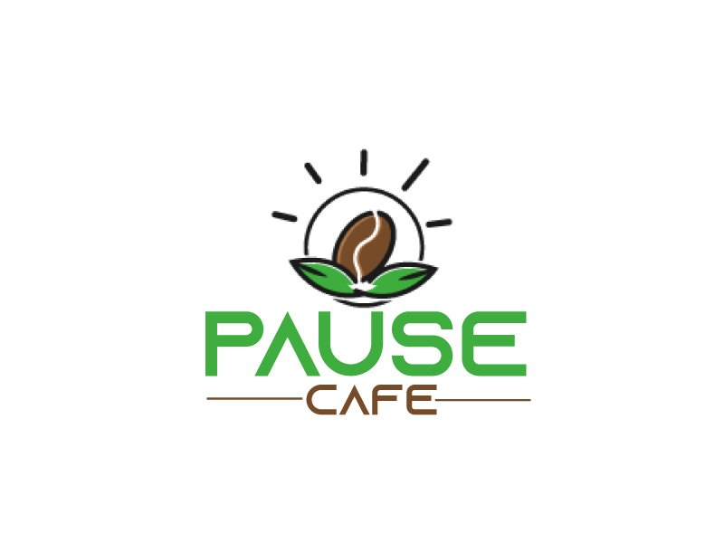 Pause Cafe logo design by ElonStark