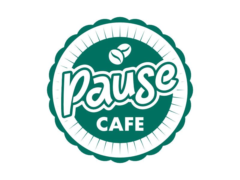 Pause Cafe logo design by shikuru