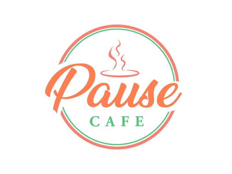 Pause Cafe logo design by Shailesh