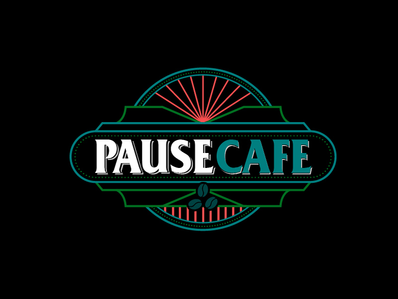 Pause Cafe logo design by fawadyk