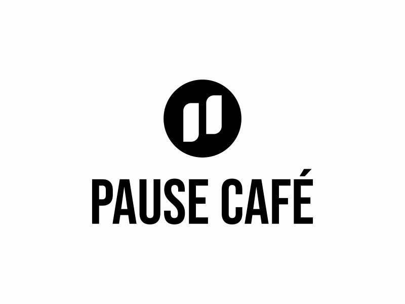 Pause Cafe logo design by ngattboy