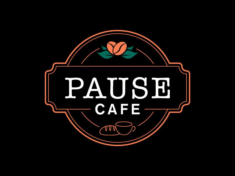 Pause Cafe logo design by japon