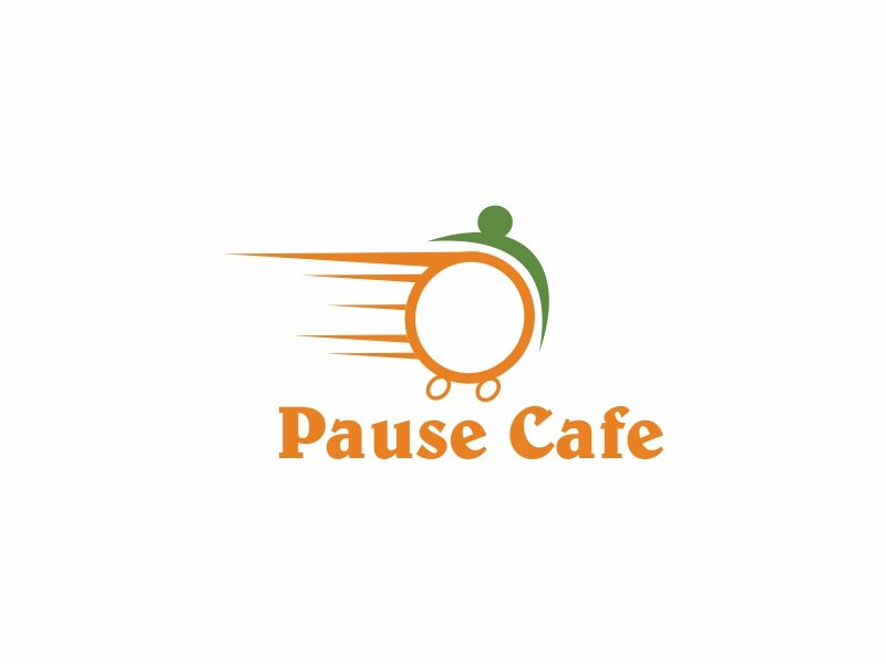 Pause Cafe logo design by Greenlight