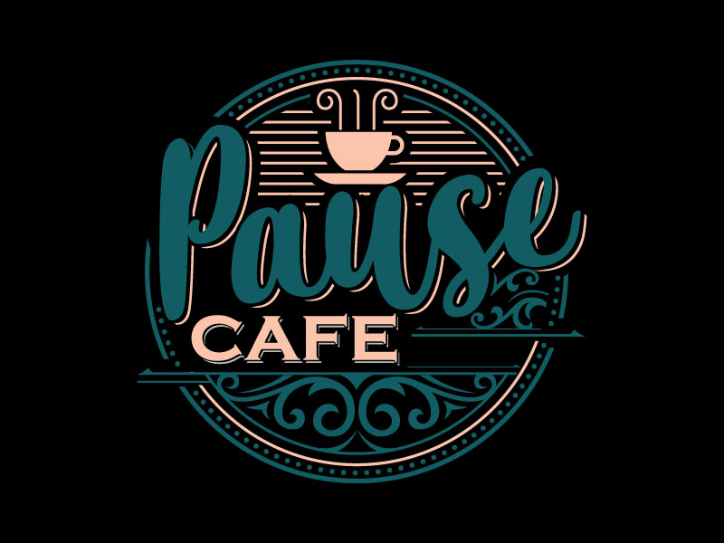 Pause Cafe logo design by Pompi Saha