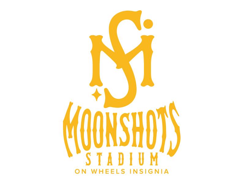 Moonshots Stadium On Wheels Insignia logo design by jaize