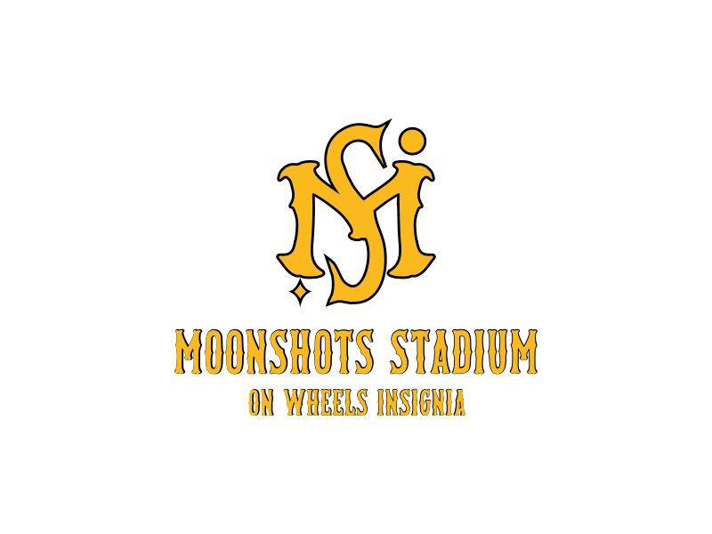 Moonshots Stadium On Wheels Insignia logo design by KaySa