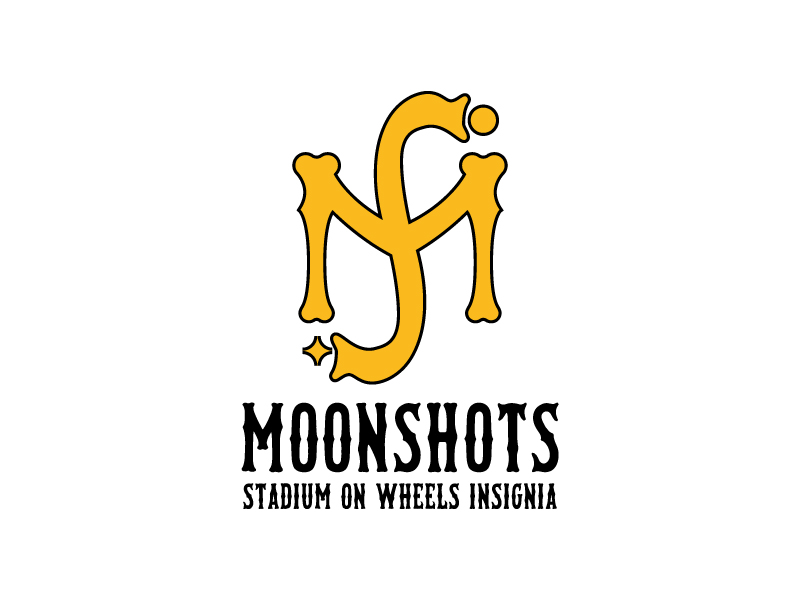 Moonshots Stadium On Wheels Insignia logo design by wongndeso