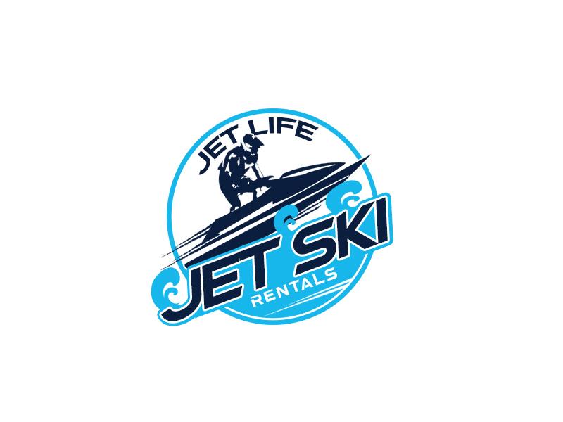 Jet Life Jet Ski Rentals Logo Design