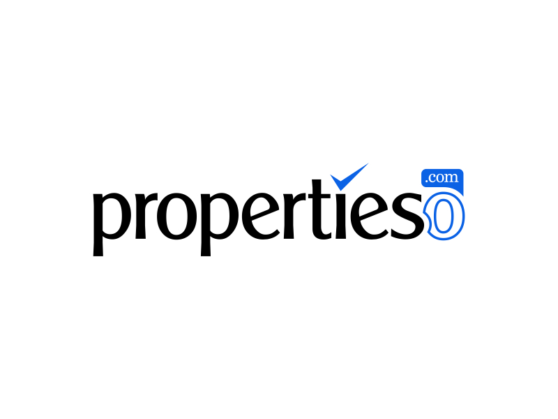 propertieso.com logo design by pionsign