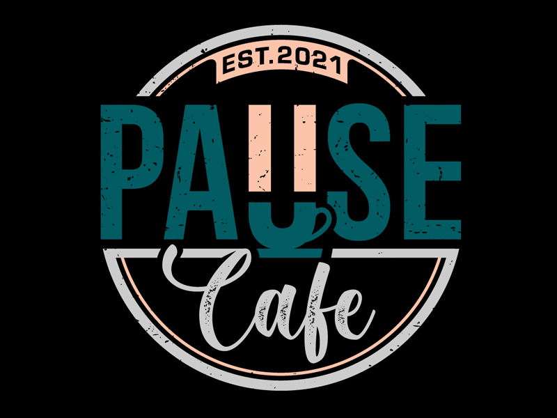 Pause Cafe logo design by DreamLogoDesign