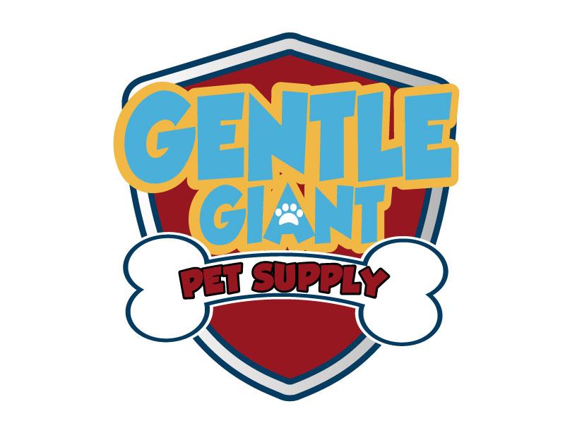 Gentle Giant Pet Supply logo design by ElonStark