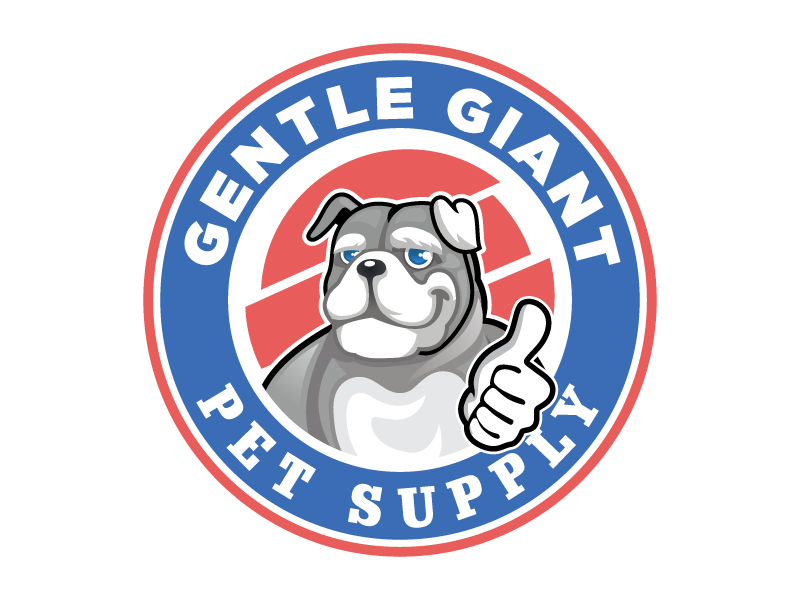 Gentle Giant Pet Supply logo design by LucidSketch