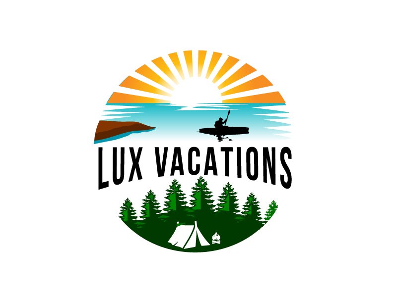LUX Vacations logo design by Foxcody
