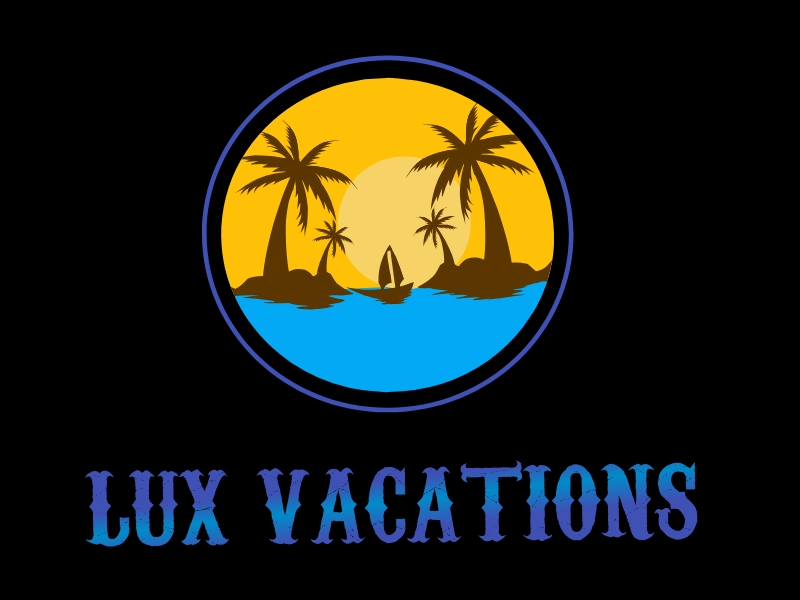 LUX Vacations logo design by Walv