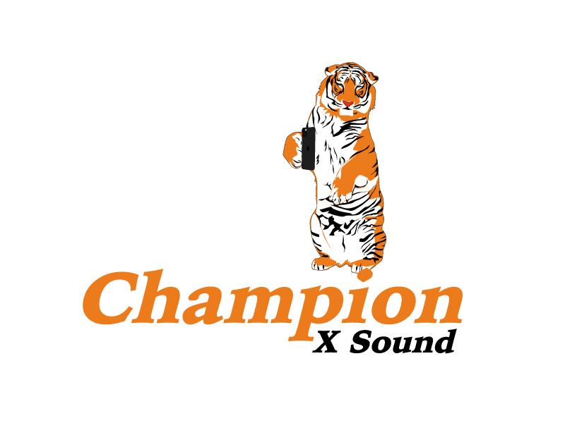 Champion X Sound logo design by ElonStark