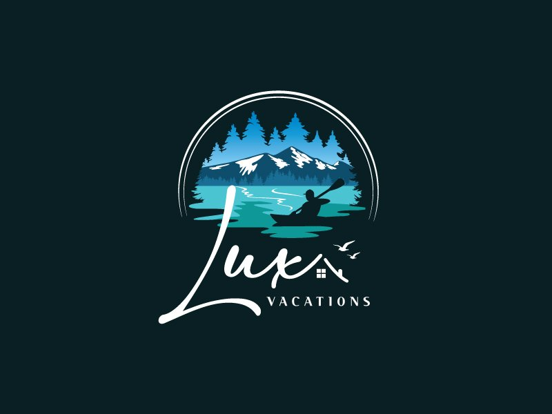 LUX Vacations logo design by dgawand