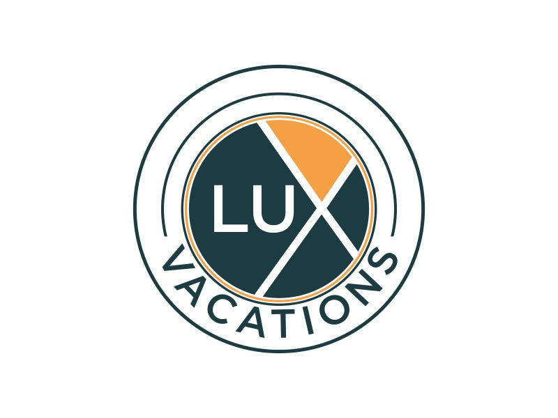 LUX Vacations logo design by MUNAROH