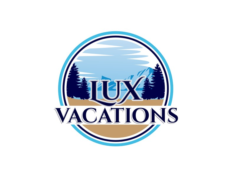 LUX Vacations logo design by Mustajib Thohuri