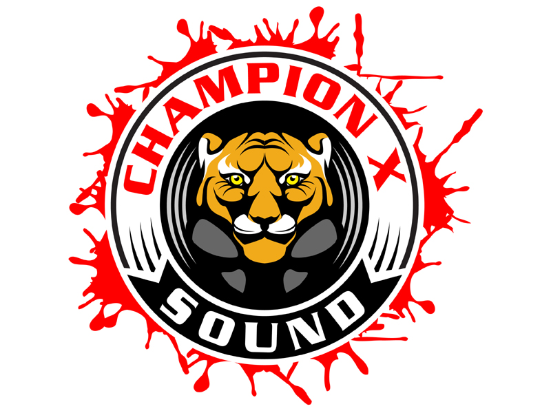Champion X Sound logo design by MAXR