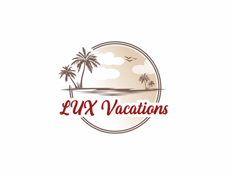 LUX Vacations logo design by Greenlight