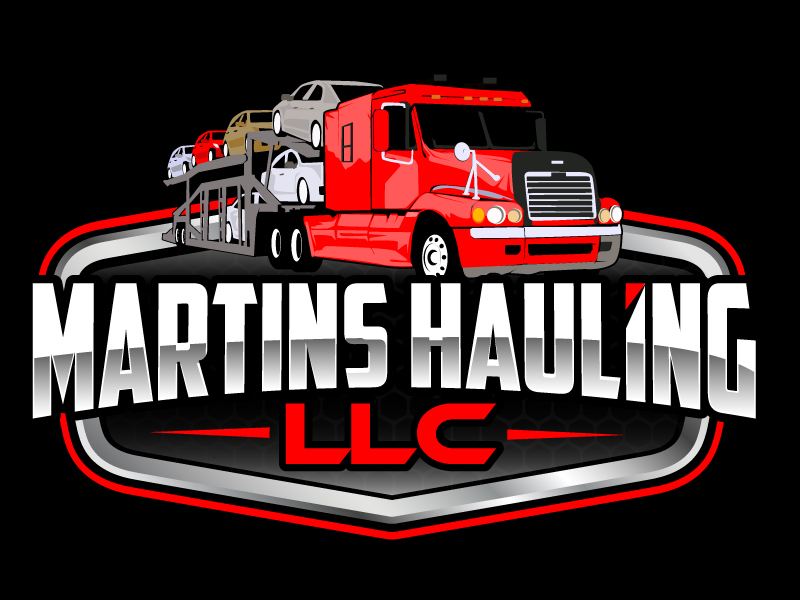 Martins Hauling LLC logo design by ElonStark