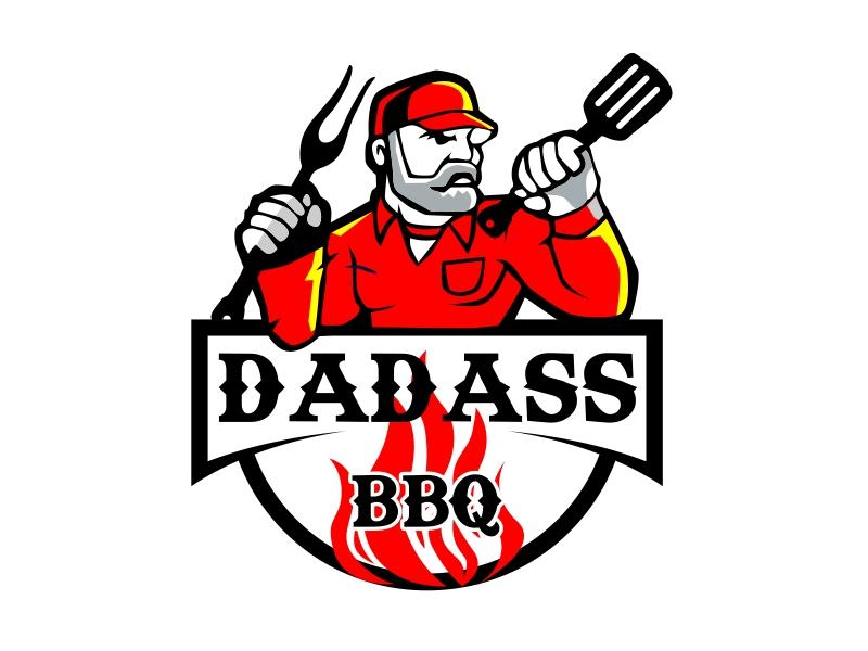 Dadass BBQ logo design by serprimero