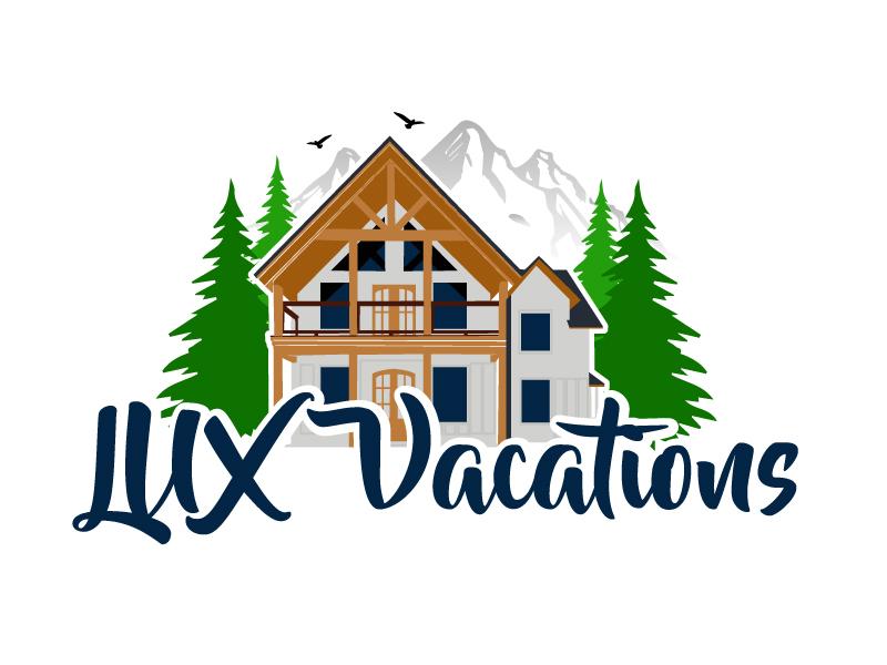 LUX Vacations logo design by ElonStark