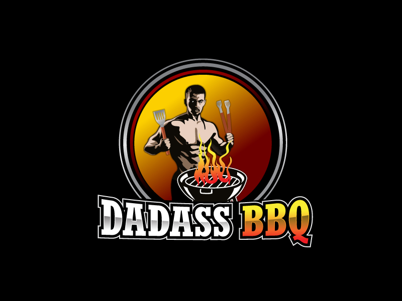 Dadass BBQ logo design by LogoInvent