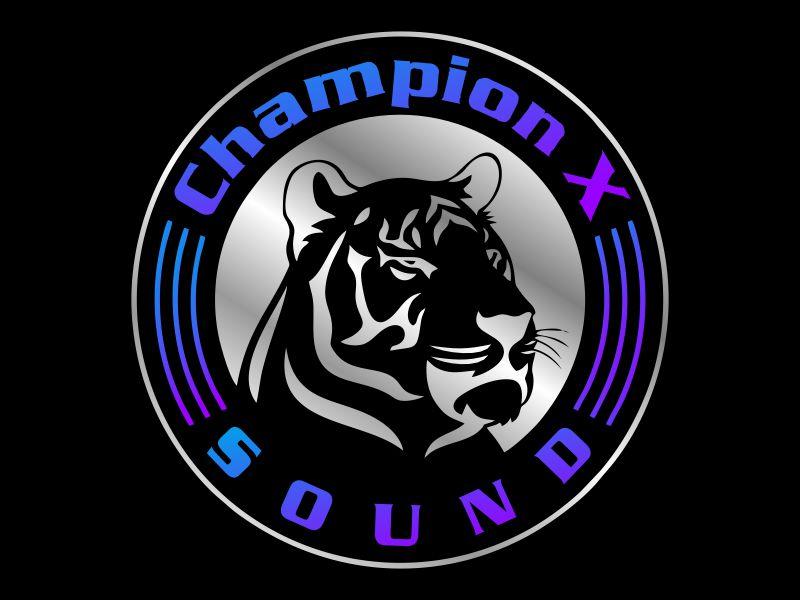 Champion X Sound logo design by Gwerth