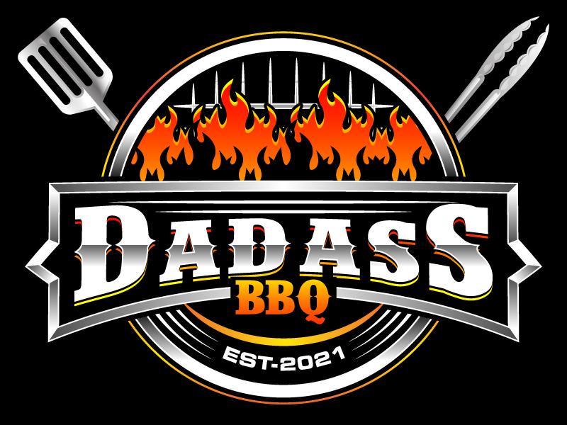 Dadass BBQ logo design by LogoQueen