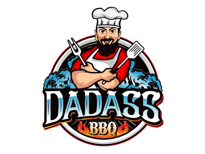 Dadass BBQ logo design by LucidSketch