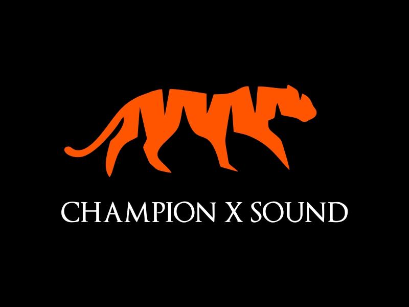 Champion X Sound logo design by JessicaLopes