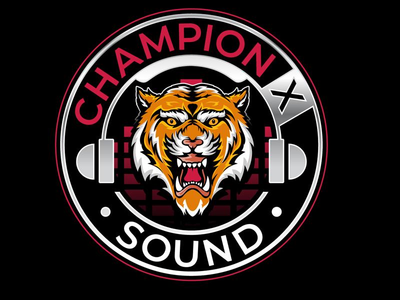 Champion X Sound logo design by DreamLogoDesign