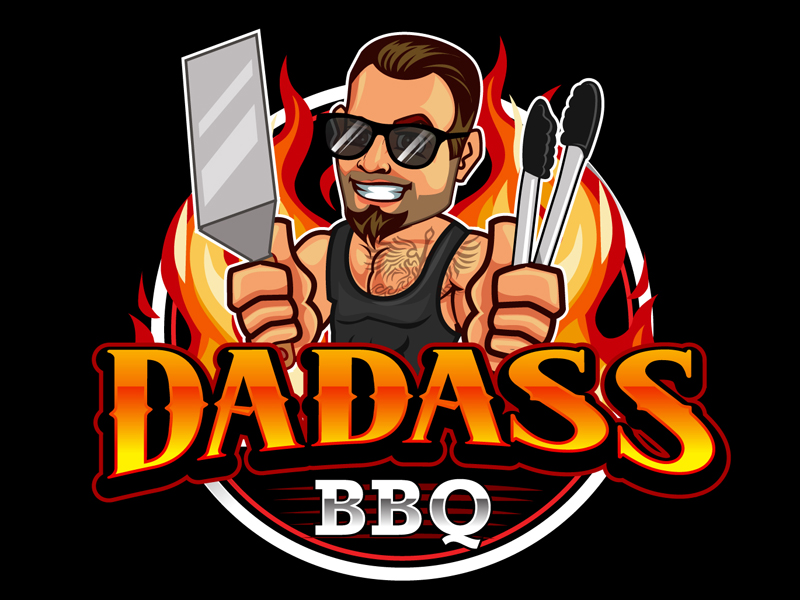 Dadass BBQ logo design by DreamLogoDesign