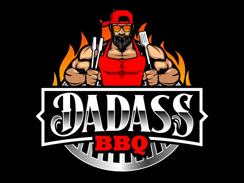 Dadass BBQ logo design by daywalker