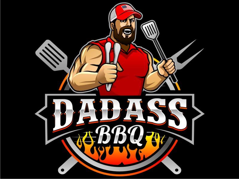 Dadass BBQ logo design by haze