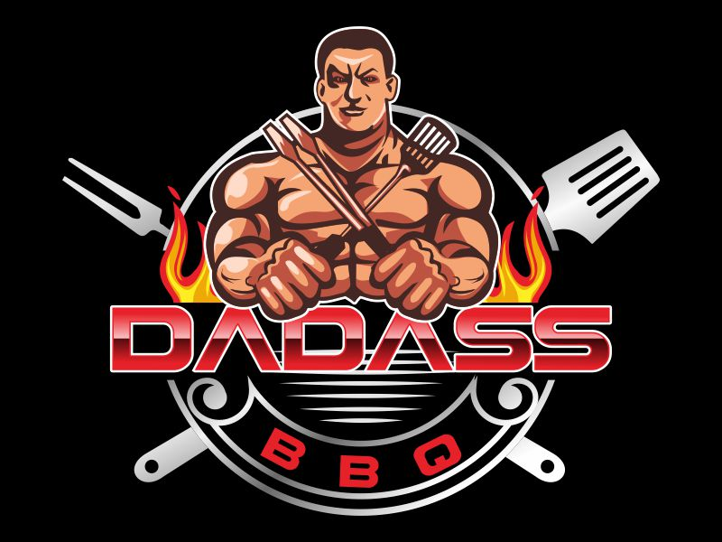 Dadass BBQ logo design by bosbejo