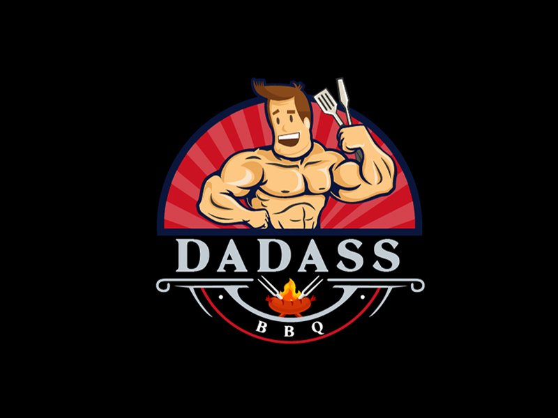 Dadass BBQ logo design by fawadyk