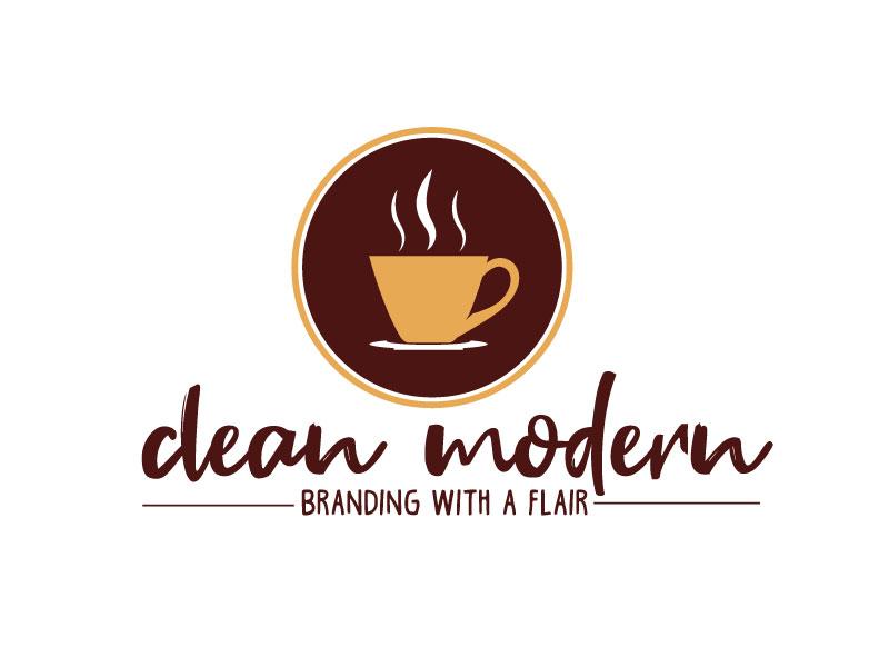 clean modern branding with a flair logo design by ElonStark